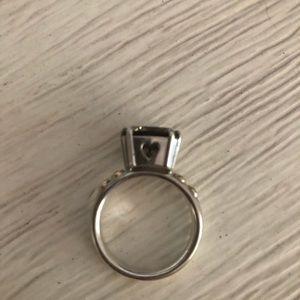 Pandora smoky quartz heart ring